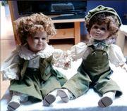 2 porzellan Puppen