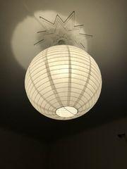 große Papierlampe rund