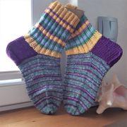 gestrickte Socken - handgestrickt - Gr 35