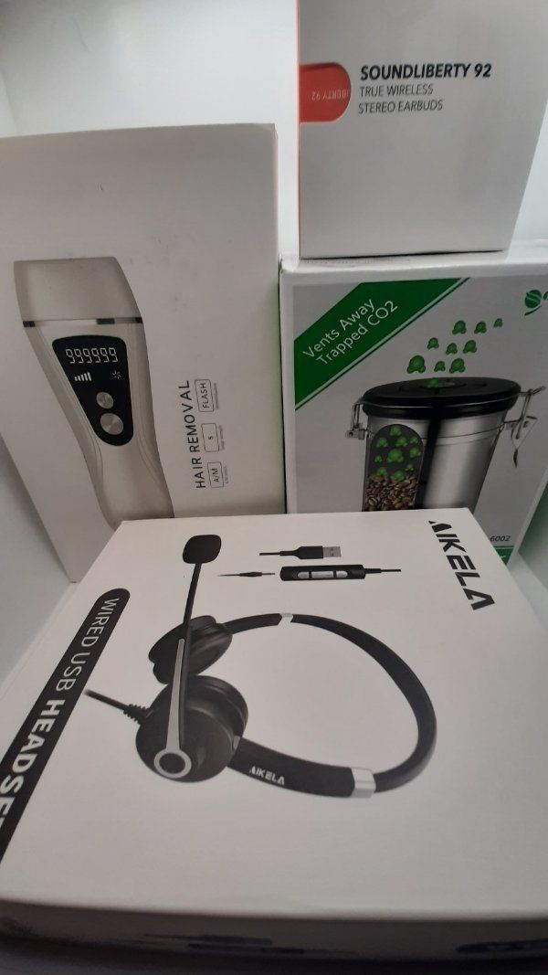 Haarentfernungsgerät Bluetooth Kopfhörer Headset Vorratsdose
