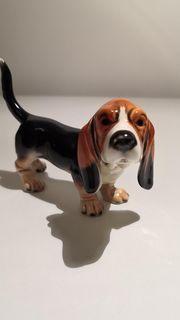 Porzellan Figur Hund Basset Goebel