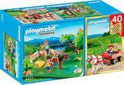 Playmobil 5457 Ponykoppel mit Ponywagen