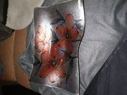 Dekoration Glasplatte Rosendruck