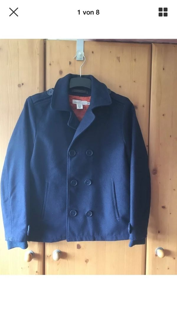 H Tettnang Jacke 164 Cardigan amp;m Blau Mantel Gr In JFcl1K