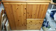 Holz-Kommode Schrank aus Kiefern-Holz 128
