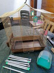 Vogelkäfig mit Zubehör