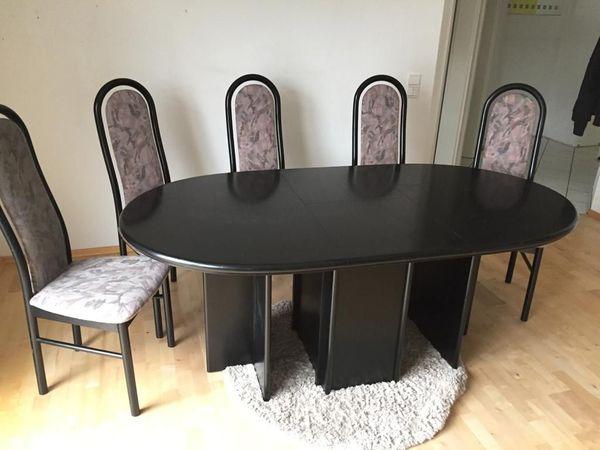 Esstischgruppe Esstisch Und 6 Stühle Von Rolf Benz In
