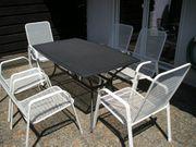 6 Gartenstühle mit Tisch Metall