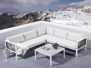 Lounge Set Rattan Aluminium 4-Sitzer