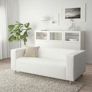 Sofabezug für Klippan-Sofa weiß