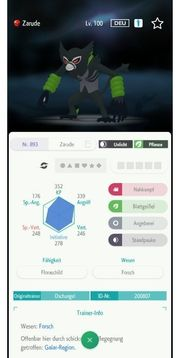 Zacian Zamazenta Zarude Legendäre Pokemon