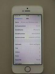 iPhone 5s 16GB weiß silber