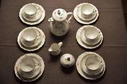 Meissen Streublümchen Kaffeeservice mit Goldrand