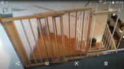Geuther Treppenschutzgitter schwenkbar Buche