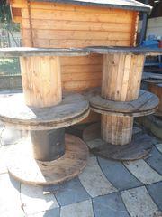 Gartentisch Holzkabeltrommel