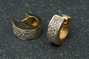 Creolen 585er Gold mit Diamanten