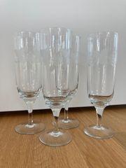 4 Sekt Gläser