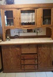 Antiker Küchenschrank 2-teilig Weichholz