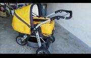 Kinderwagen gelb mit Luftreifen