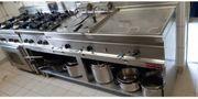 Gastronomie Küchenzeile Gasherd Friteuse Bain-Marie