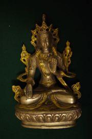 Buddha AMITHABA Bronze Silber Statue