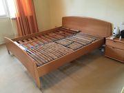 Bett mit 2 Nachttischen Schrank