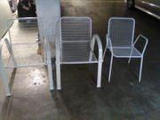 Gartenstühle weiß Metall nicht klappbar