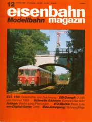 eisenbahnmagazin Modellbahn 12 1989