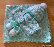 Babyset Jäckchen Mütze Schuhchen und