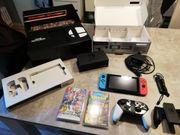 Nintendo switch mit viel dazu