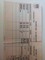 ICE DB Ticket von Hildesheim