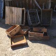 Alte Holzkisten Schubläden deco Jugendstil