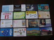 16 Telefonkarten Konvolut 2 für