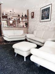 Couchgarnitur Kunstleder 4 teilig