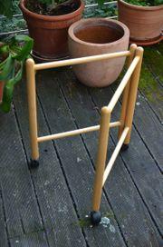 Tischgestell klappbar fahrbar helles Holz