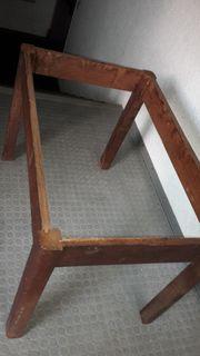 Holztisch ohne Platte zu verschenken