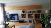 Wöstmann Markenmöbel Massivholz Wohnwand Wohnzimmerschrank