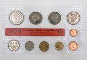 Kursmünzensatz - BRD 1979 - G - Staatliche