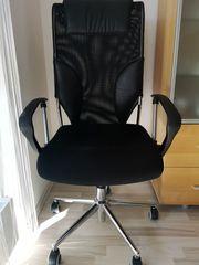 Bürostuhl Chefsessel in schwarz mit