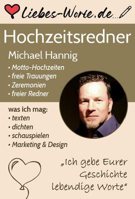 Dienstleistungen, Service gewerblich - Trauredner - freier Redner - Hochzeitsredner - freie