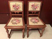 2 antike Gründerzeit Stühle Eiche