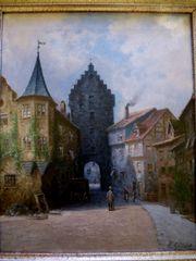 Meersburg Bodensee sig tolles Gemälde