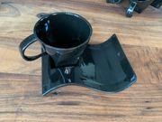 Schwarzes Kaffeeservice 36 7 tlg