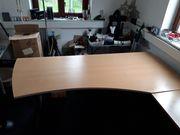 Schreibtisch Bürotisch hali zweiteilig