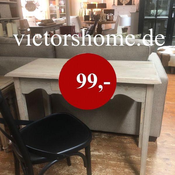 Kleiner Schreibtisch Naturholz antik Konsole Wandtisch B 95 ...