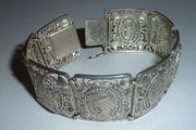Jugendstil Armband Ägypten filigran Silber