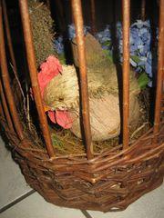 Weidengesteck Gesteck mit Huhn und