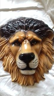 Porzellan Löwe - Wandmaske Made in
