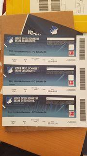3 Sitzplatzkarten Hoffenheim - Schalke am