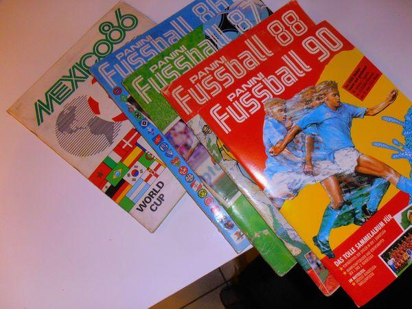6 Panini Fußballalben WM 1986